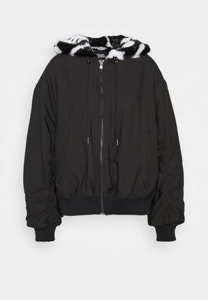 REVERSIBLE HOOD - Winter jacket - black/white