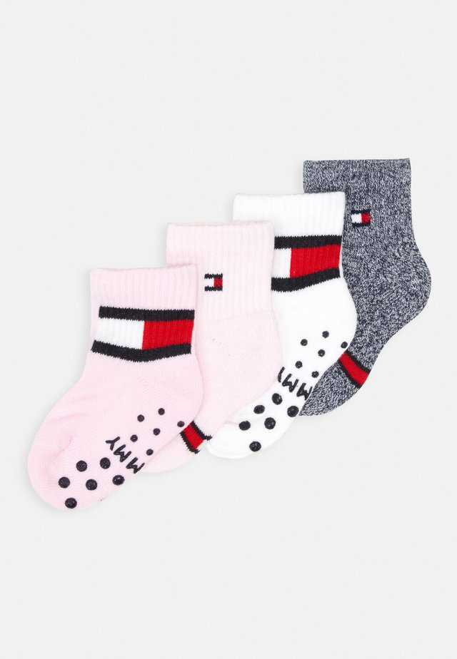 BABY SOCK FLAG 4 PACK - Sukat - pink combo