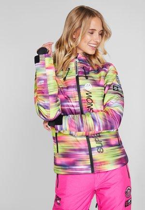 SKI RUN JACKET - Snowboard jacket - pink/yellow