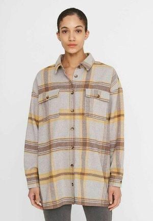 Button-down blouse - light grey melange 2