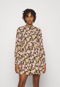 JDY - JDYCARMEN SHORT DRESS - Košilové šaty - black - 0