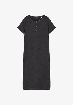 NKFRIBSA MIDI DRESS - Jersey dress - dark grey melange