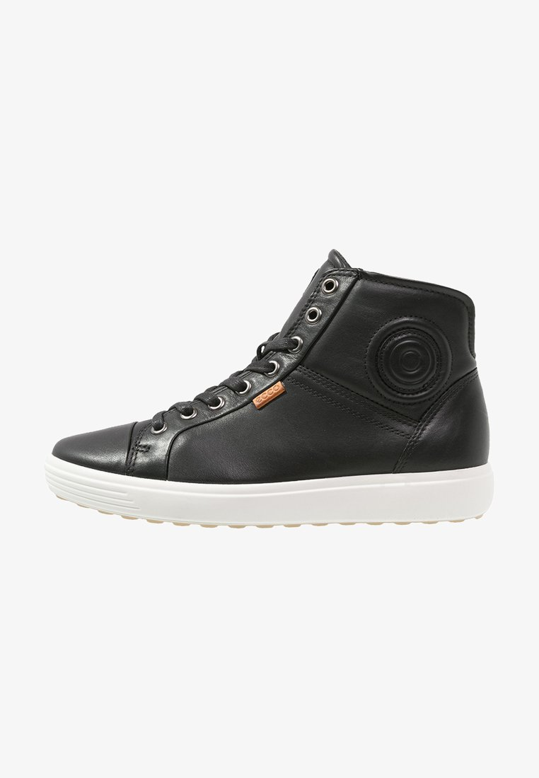 ECCO - SOFT VII - Sneakersy wysokie - black