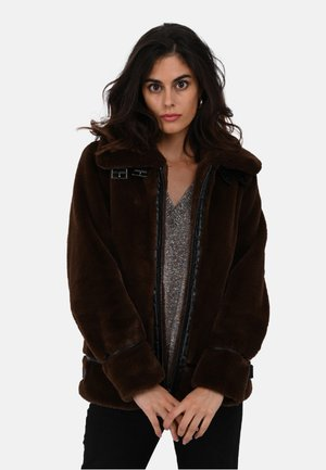 CULTURE - Winter coat - dark brown