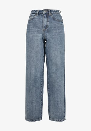 HIGH WAIST WIDE LEG - Flared Jeans - tinted light blue washed