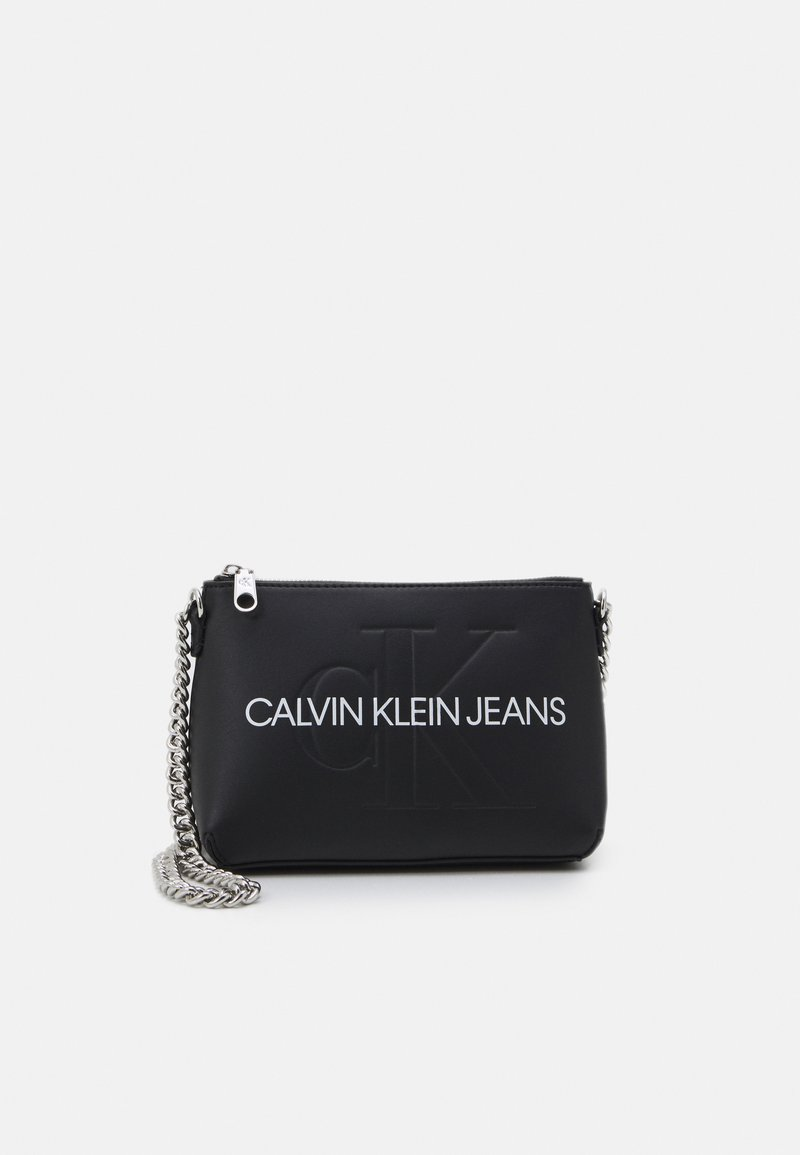 Calvin Klein Jeans - CAMERA POUCH CHAIN - Torba na ramię - black