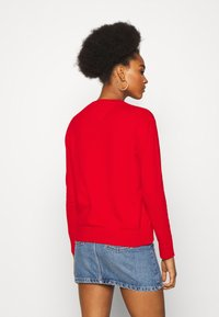Tommy Jeans - SOFT TOUCH CREW SWEATER - Sweter - deep crimson - 2