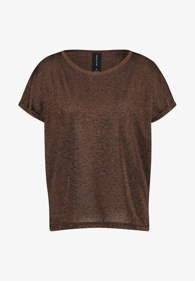 T-shirt basic - tobacco brown