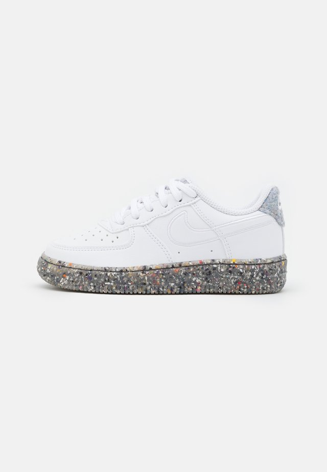 FORCE 1 UNISEX - Sneakers laag - white/metallic silver