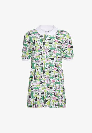 Unisex Lacoste x Jeremyville Print Regular Fit Piqué Polo Shirt - Poloshirt - blanc/multico