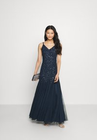 Maya Deluxe - DELICATE SEQUIN FISHTAIL MAXI DRESS - Ballkjole - navy - 1