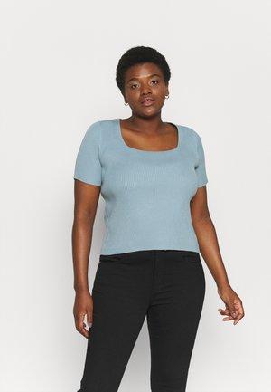 SQUARE NECK  - Basic T-shirt - turquoise blue