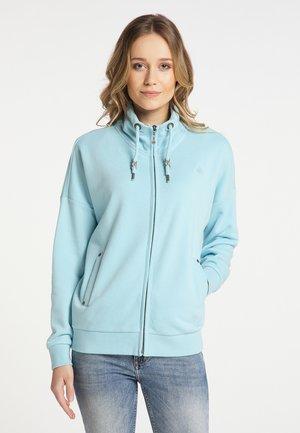 Zip-up sweatshirt - helltürkis