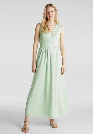 CHIFFON-KLEID MIT WICKELEFFEKT - Maxi dress - pastel green