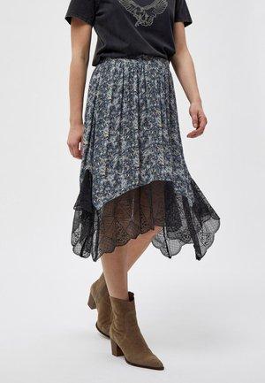 A-line skirt - white/black