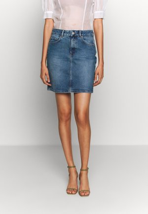 SLFKENNA SKIRT - Falda de tubo - medium blue denim