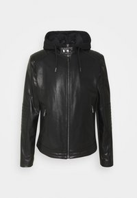KARL LAGERFELD - BIKER JACKET - Leather jacket - black - 0