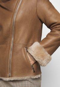STUDIO ID - PHILIPPA JACKET - Leather jacket - camel/light camel - 7