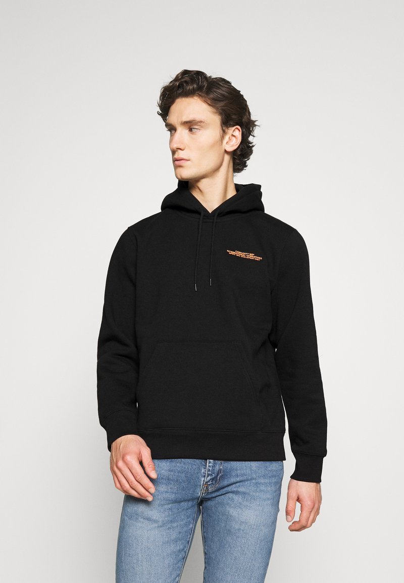 Carhartt WIP - HOODED INTERNATIONAL OPERATIONS - Sweat à capuche - black/red