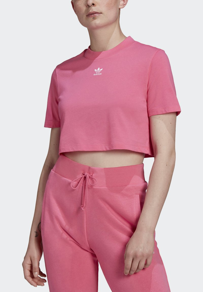 adidas Originals CROPPED TEE - T-Shirt basic - sesopk/pink mowBNX