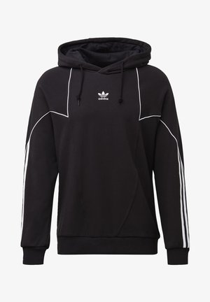 BIG TREFOIL ABSTRACT HOODIE - Jersey con capucha - black