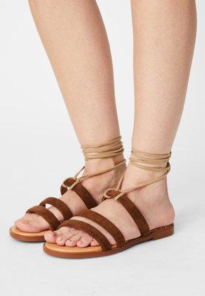 MARIA - Sandals - antelina arena/taupe