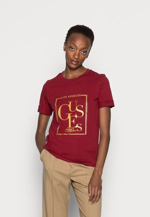 SIMONNE  - T-shirt con stampa - beet juice red
