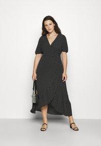 Vero Moda Curve - VMSAGA WRAP ANKLE DRESS - Maxi dress - black - 1
