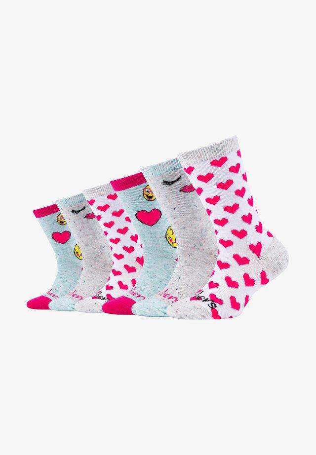 6 PACK - Socks - light grey melange
