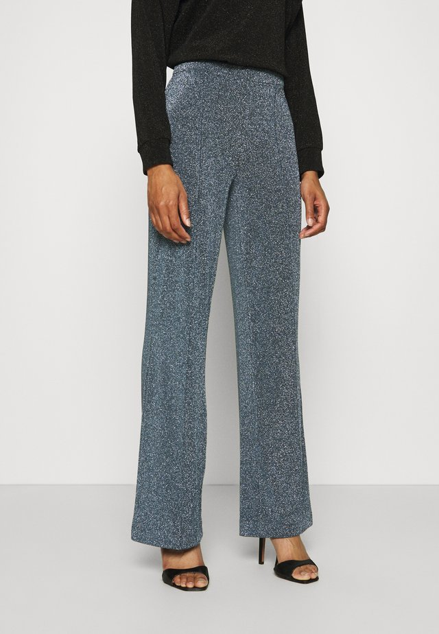 GLITTER PIRLA - Trousers - frosty blue
