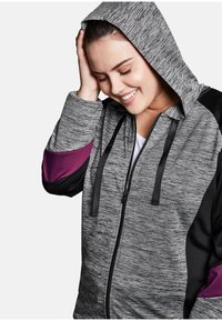 Sheego - Zip-up hoodie - heather gray - 3