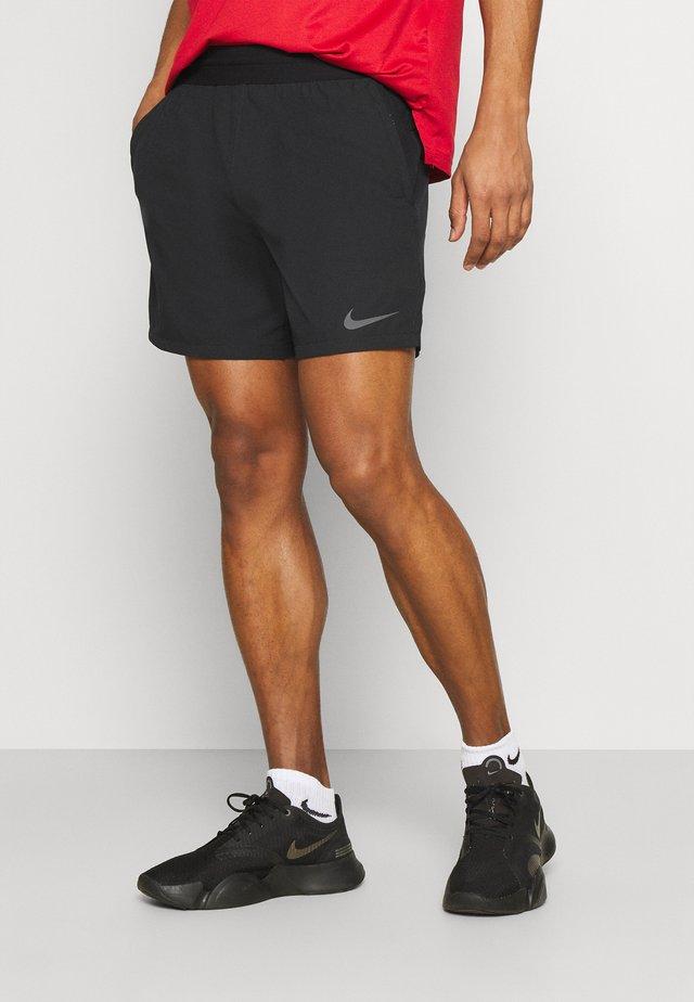 SHORT - Sportovní kraťasy - black/iron grey