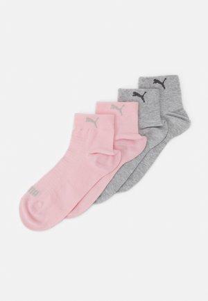 WOMEN QUARTER 4 PACK - Calcetines - grey/pink