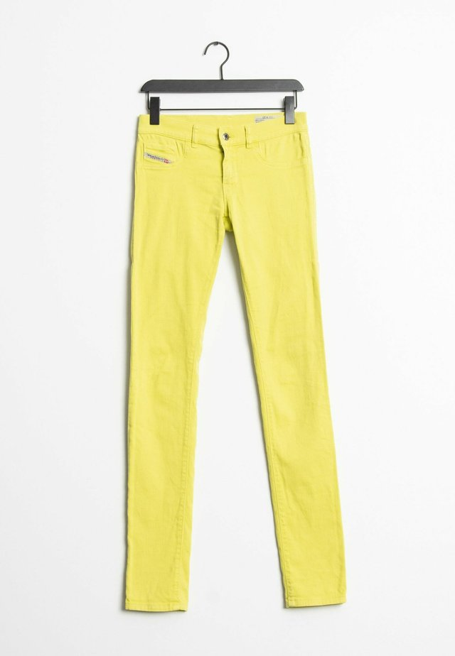 Straight leg jeans - yellow