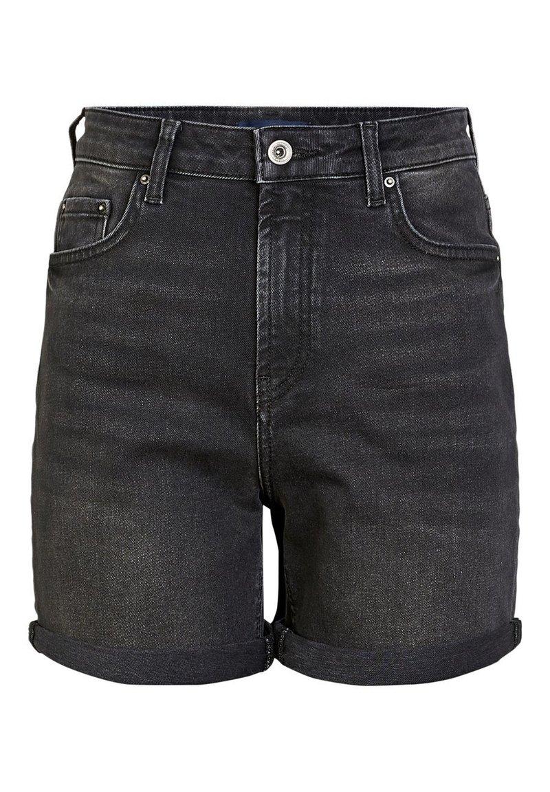 Pieces - Denim shorts - black