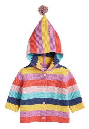 MULTI STRIPE BRIGHT CARDIGAN (0MTHS-3YRS) - Gilet - pink