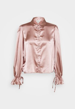 TIE CUFF - Button-down blouse - pink