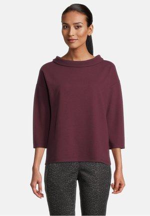 MIT 3/4 ARM - Sweater - dark aubergine