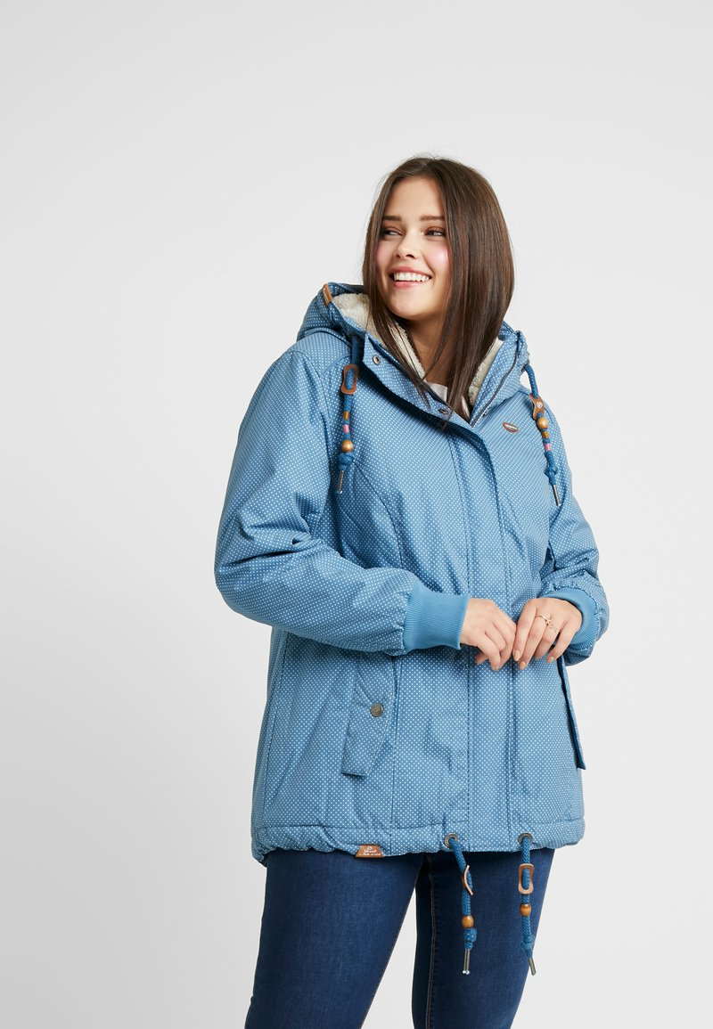 Ragwear Plus - DANKA MINIDOTS COAT - Kåpe / frakk - blue