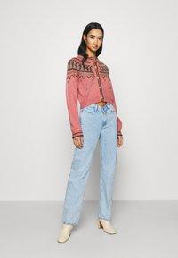 BDG Urban Outfitters - YOKED RAGLAN  - Strickjacke - pink - 1