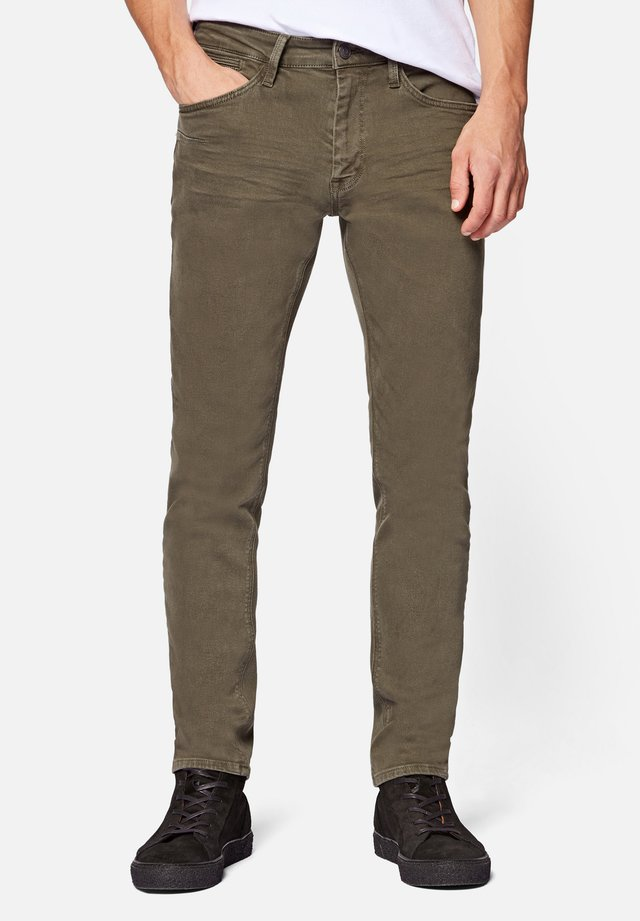 JAMES - Jeans Skinny Fit - khaki washed down str