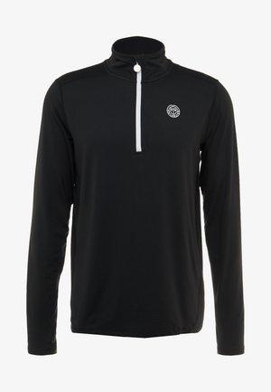 ZAC TECH - Long sleeved top - black/white