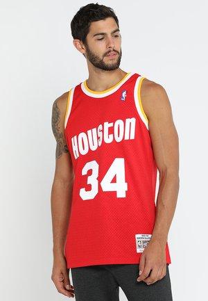 NBA HOUSTON ROCKETS HAKEEM OLAJUWON SWINGMAN  - T-shirt de sport - red/white