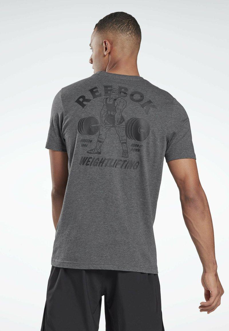 Reebok - REEBOK WEIGHTLIFTING T-SHIRT - T-shirt imprimé - grey