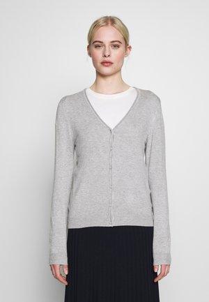 VMNELLIE GLORY LS V-NECK CARDIGAN N - Cardigan - light grey melange