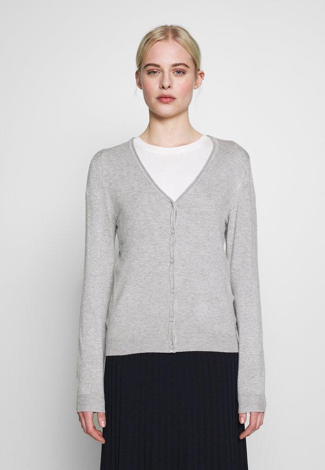 VMNELLIE GLORY LS V-NECK CARDIGAN N - Kardigan - light grey melange
