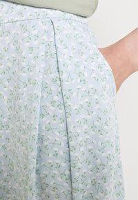 Monki - SIGRID BUTTON SKIRT - A-line skirt - blue dusty light - 2