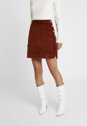EVELVETA - Áčková sukně - fauve