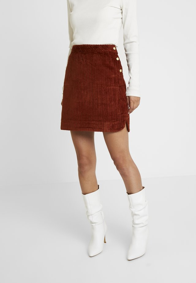 EVELVETA - A-snit nederdel/ A-formede nederdele - fauve
