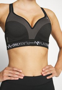 ONLY Play - ONPJINDY CIRCULAR RACERBACK SPORTS - Sports-bh'er - black/white - 4